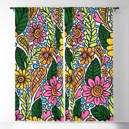 gouache garden Blackout Curtain