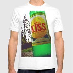 Kiss Soda MEDIUM White Mens Fitted Tee