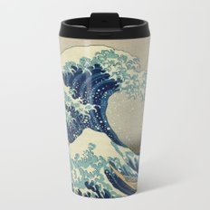The Great Wave off Kanagawa Metal Travel Mug