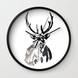 High arctic reindeer Wall Clock