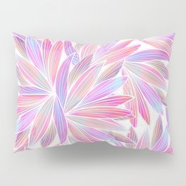Trendy girly pink lavender coral watercolor floral Pillow Sham