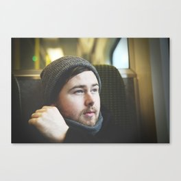 The Irish man from the train Canvas Print