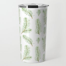 Watercolor pine branches pattern Travel Mug