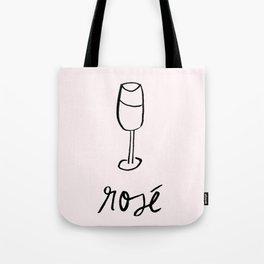 Rosé Illustration Tote Bag