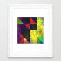 be happy Framed Art Prints featuring Happy by SensualPatterns