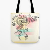 decorative Tote Bags featuring Decorative Floral by famenxt