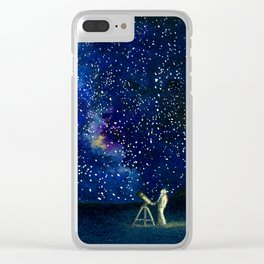 Stars in Her Eyes Clear iPhone Case