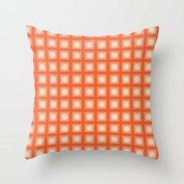ORANGE CUBES Throw Pillow