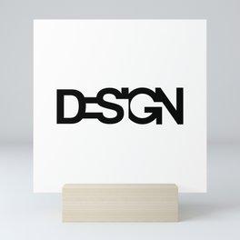 Typo Design Mini Art Print