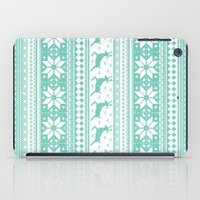 sweater iPad Cases featuring Reindeer Sweater by Kelsey Bruxvoort