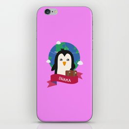 Penguin Globetrotter from DHAKA T-Shirt iPhone Skin