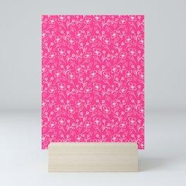 08 Small Flowers on Pink Mini Art Print