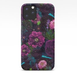 Whimsical Watercolor night garden floral hand paint iPhone Case