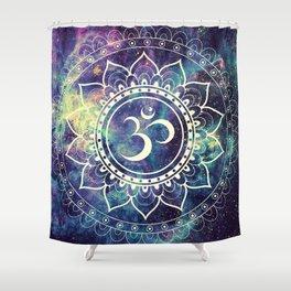 Om Mandala : Deep Pastels Galaxy Shower Curtain