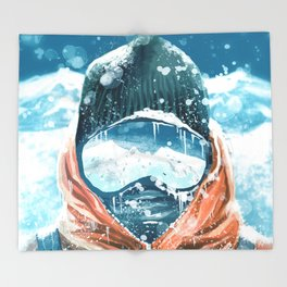 climber in the everest Throw Blanket