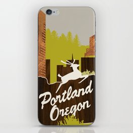 White Stag Sign, Portland Oregon iPhone Skin