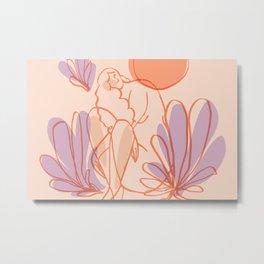 Abstraction_SUMMER_SUN_NAKED_NATURE_Minimalism_003V Metal Print