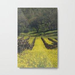 Mustard Field 2 Metal Print