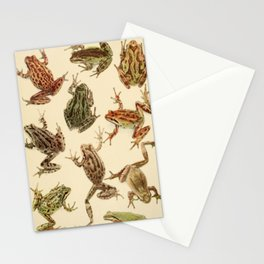 Naturalist Frogs Stationery Cards