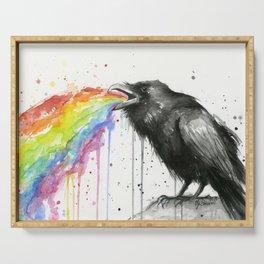 Raven Tastes the Rainbow Serving Tray