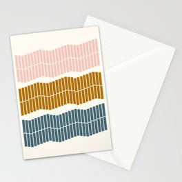 Geometric Piano Keys Stationery Cards