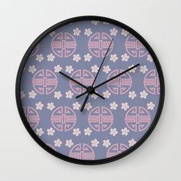 Pastel Oriental Pattern Wall Clock
