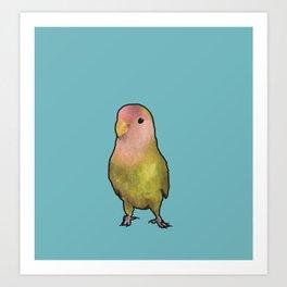 Lovebird Friend Art Print