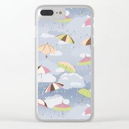 Rainy Day  Umbrellas Clear iPhone Case