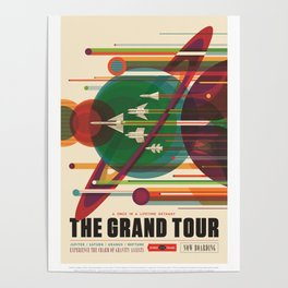 The Grand Tour : Vintage Space Poster Poster