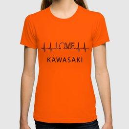 Kawasaki heartbeat. I love my favorite city. T-shirt