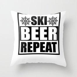 Skiing wintersport Throw Pillow