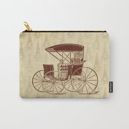 Vintage Horse Carriage in Paris Carry-All Pouch