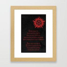 Exorcise Demons  Framed Art Print