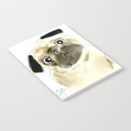 Sitting Pug Notebook