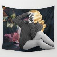 selfie Wall Tapestries featuring Selfie by Cs025