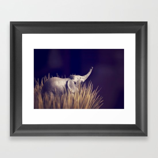 an uncertain future Framed Art Print