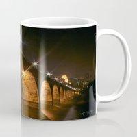 minneapolis Mugs featuring Minneapolis, MN Bridge by Abby Hoffman