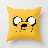 jake Throw Pillows featuring Jake by Shane Harris