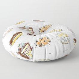 Watercolor Desserts pattern Floor Pillow