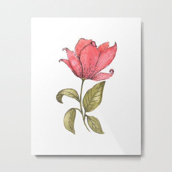 Flower Illustration / Magnolia Metal Print