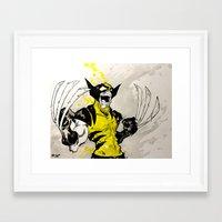 berserk Framed Art Prints featuring Wolverine - Berserker by RISE Arts