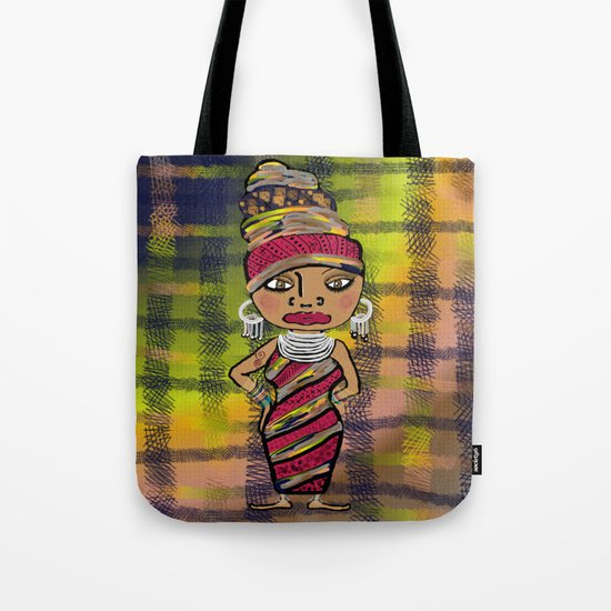 African Beauty Tote Bag