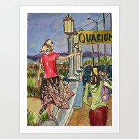 Braving the Seawall Art Print
