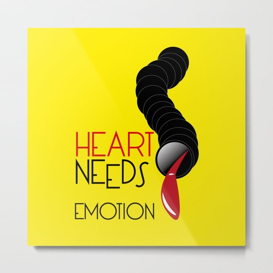Heart Needs Emotion Metal Print