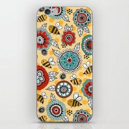 Bees & Blooms iPhone Skin