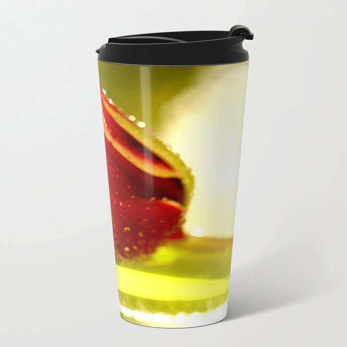 Glowing Red Tulip  Metal Travel Mug