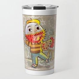 rambutan boy painting Travel Mug