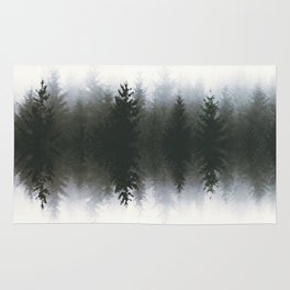 Sound waves -woods Rug