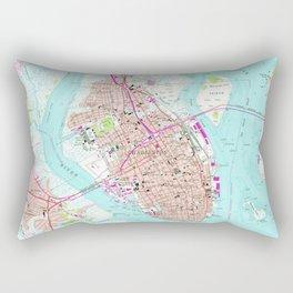 Vintage Map of Charleston South Carolina (1958) Rectangular Pillow