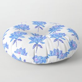 Sacred Lotus – Blue Blossom Floor Pillow